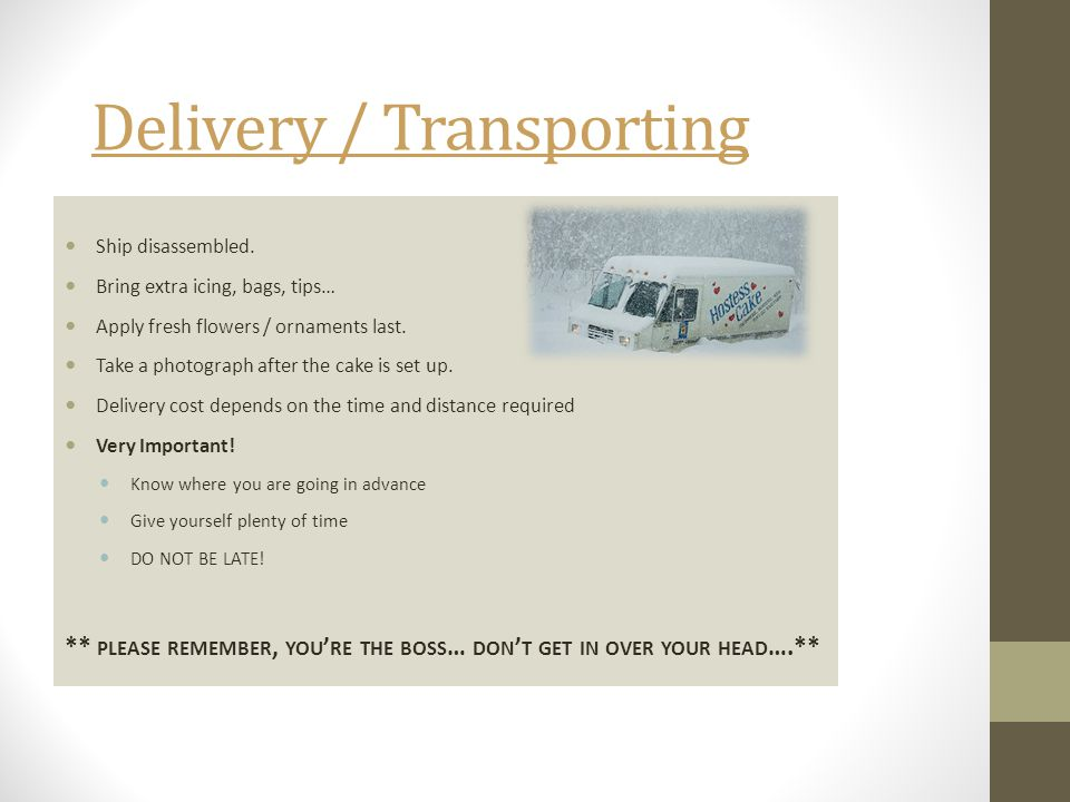 Delivery / Transporting