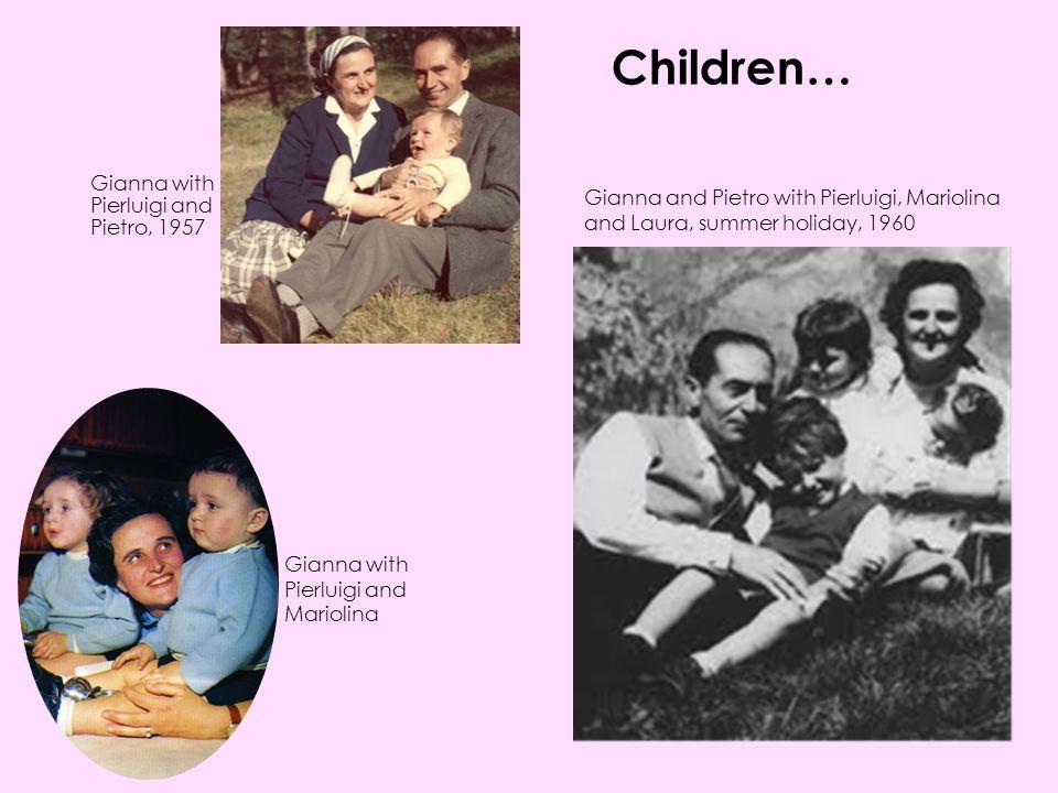Children… Gianna with Pierluigi and Pietro, 1957