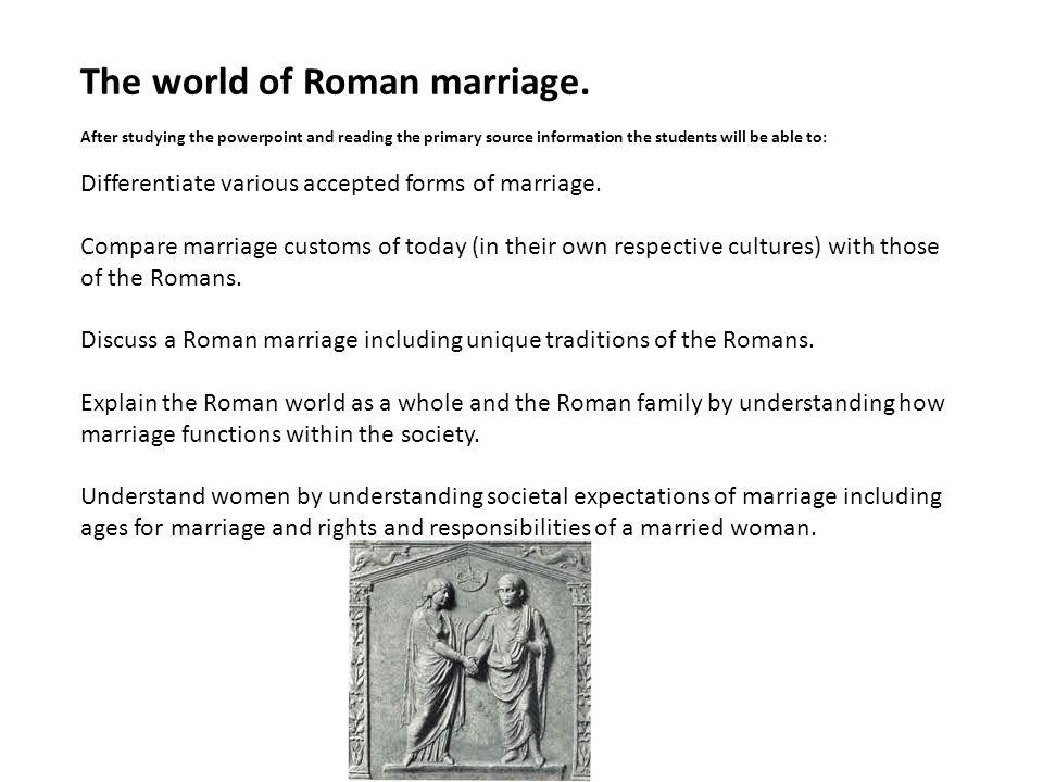 The world of Roman marriage