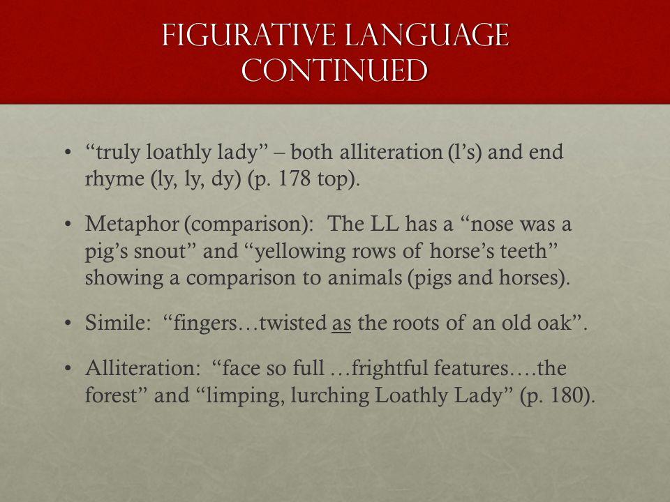 Figurative Language Continued