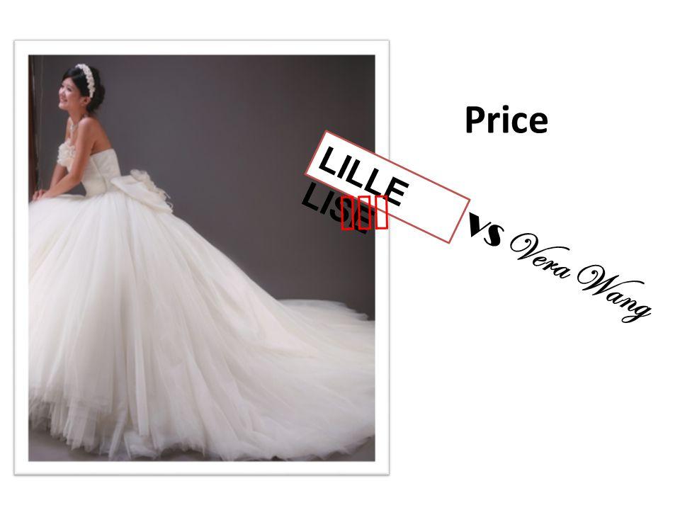 Price LILLE LISE won VS Vera Wang
