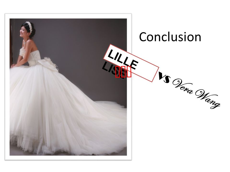 Conclusion LILLE LISE won VS Vera Wang