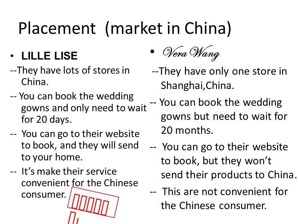 Placement (market in China)