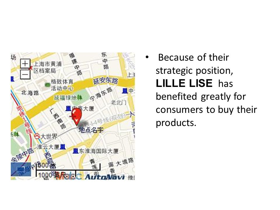 Because of their strategic position, LILLE LISE has benefited greatly for consumers to buy their products.
