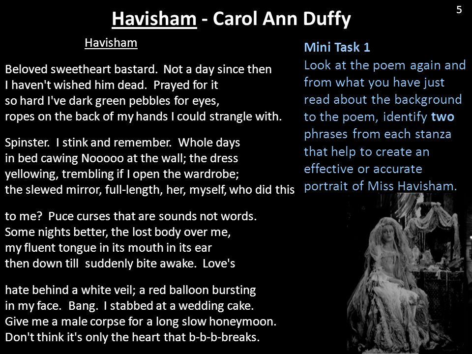 Havisham - Carol Ann Duffy