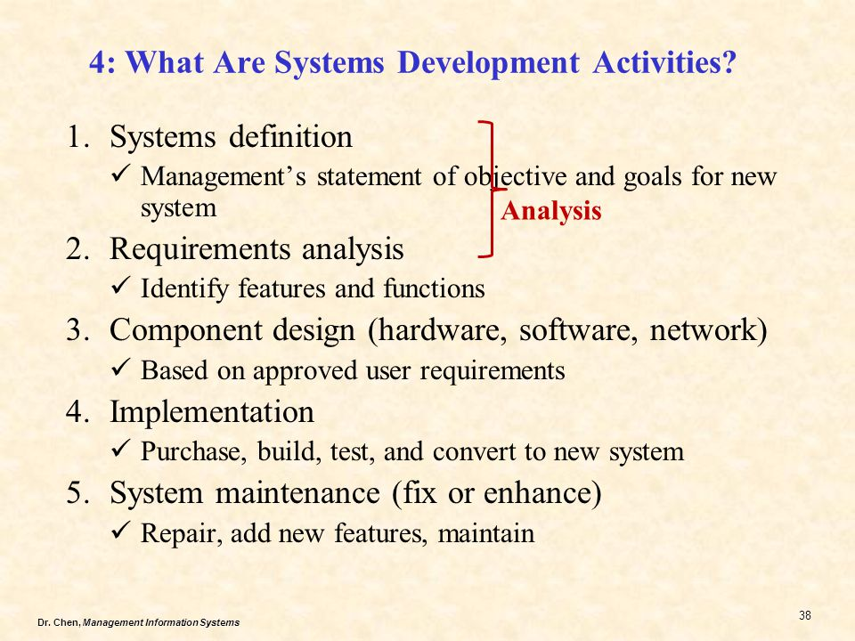 4: What Are Systems Development Activities