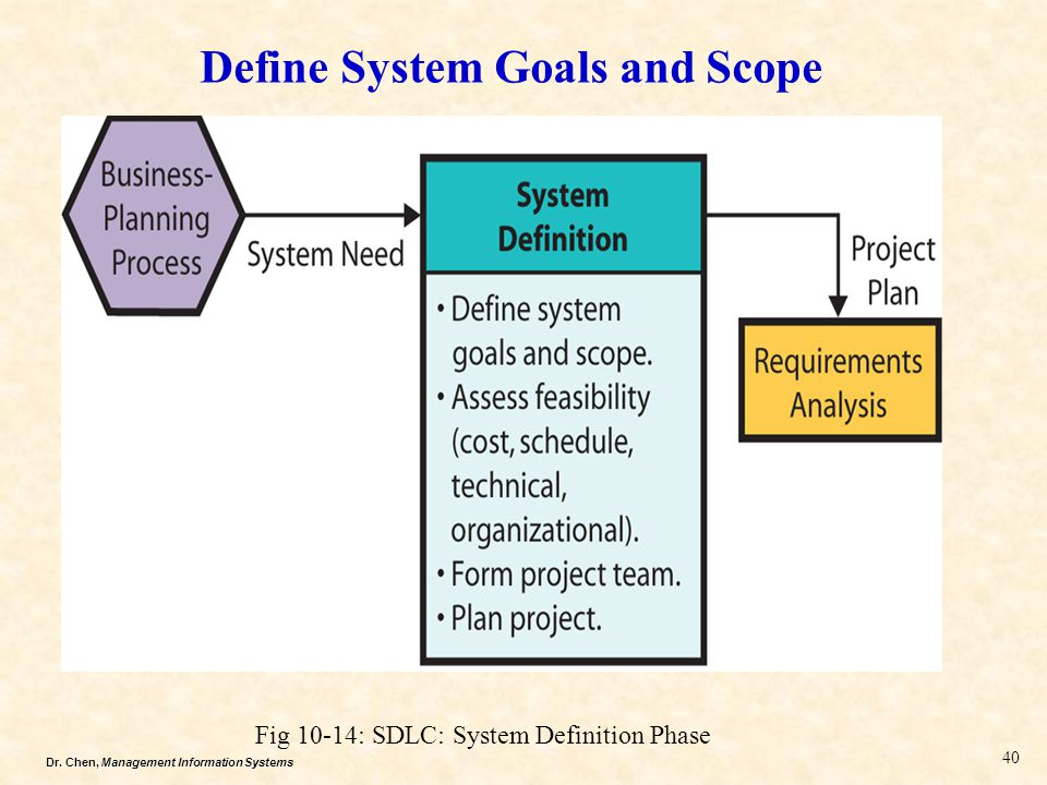 Define System Goals and Scope