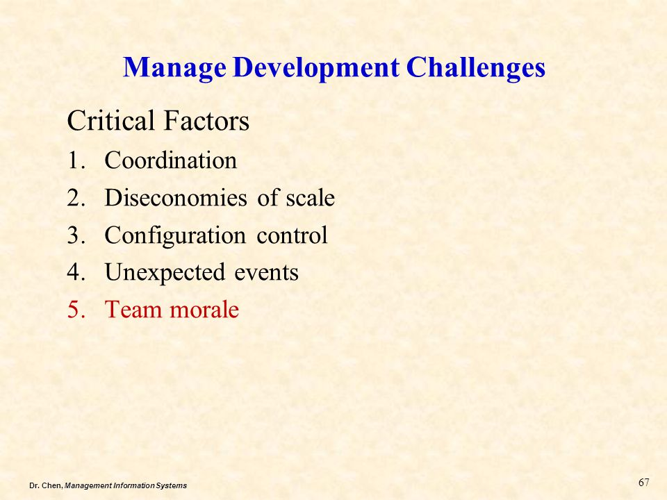 Manage Development Challenges