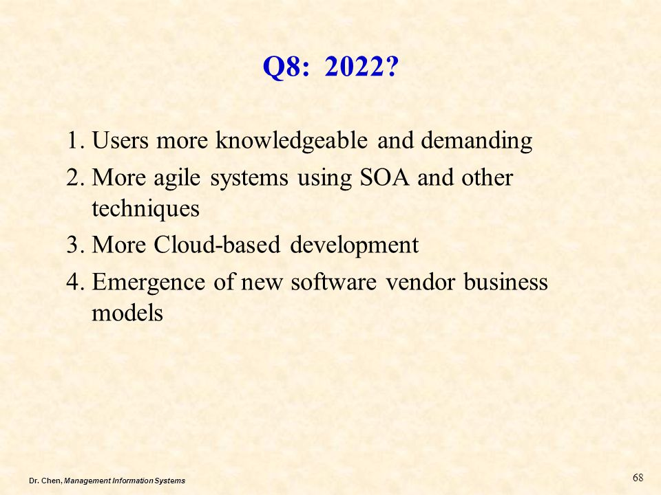 Q8: 2022 Users more knowledgeable and demanding