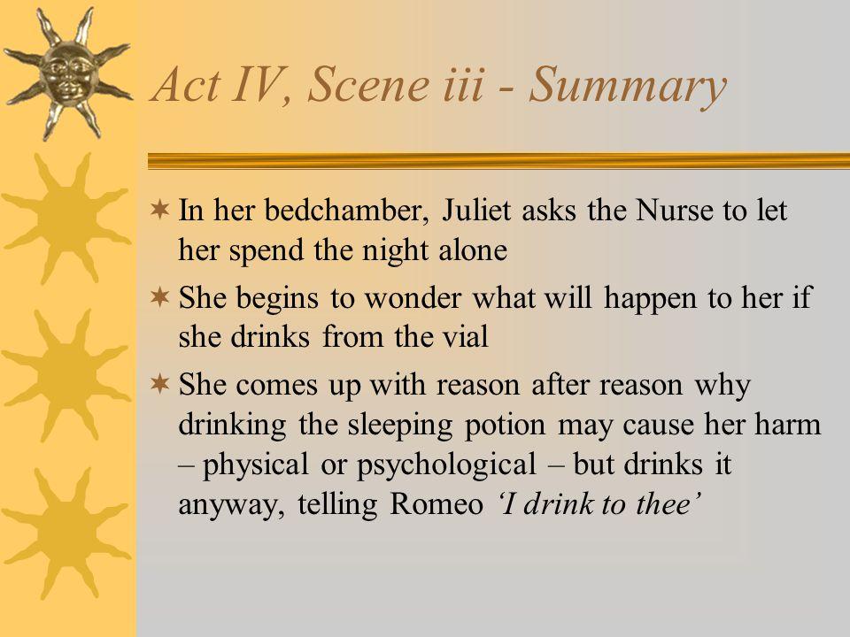 Act IV, Scene iii - Summary