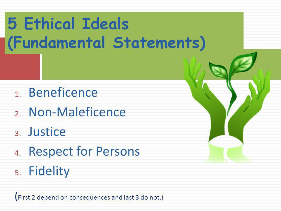 5 Ethical Ideals (Fundamental Statements)