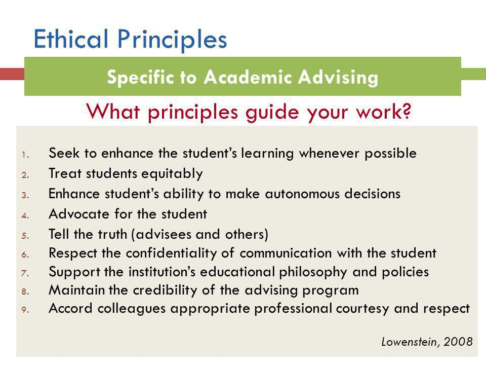 Specific to Academic Advising