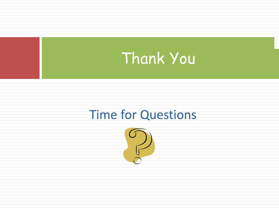Thank You Time for Questions