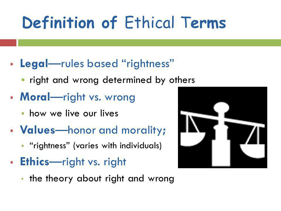 Definition of Ethical Terms