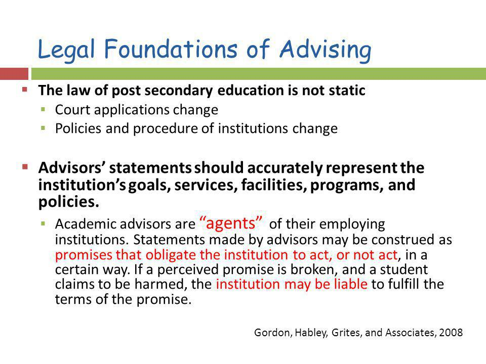 Legal Foundations of Advising