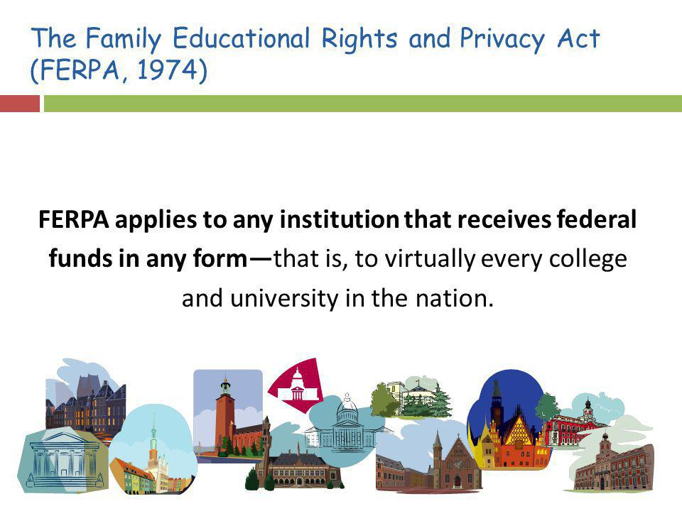 The Family Educational Rights and Privacy Act (FERPA, 1974)