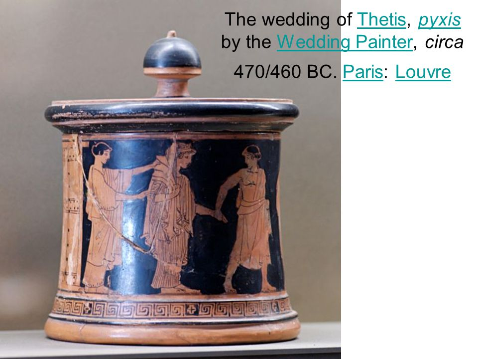 The wedding of Thetis, pyxis by the Wedding Painter, circa 470/460 BC
