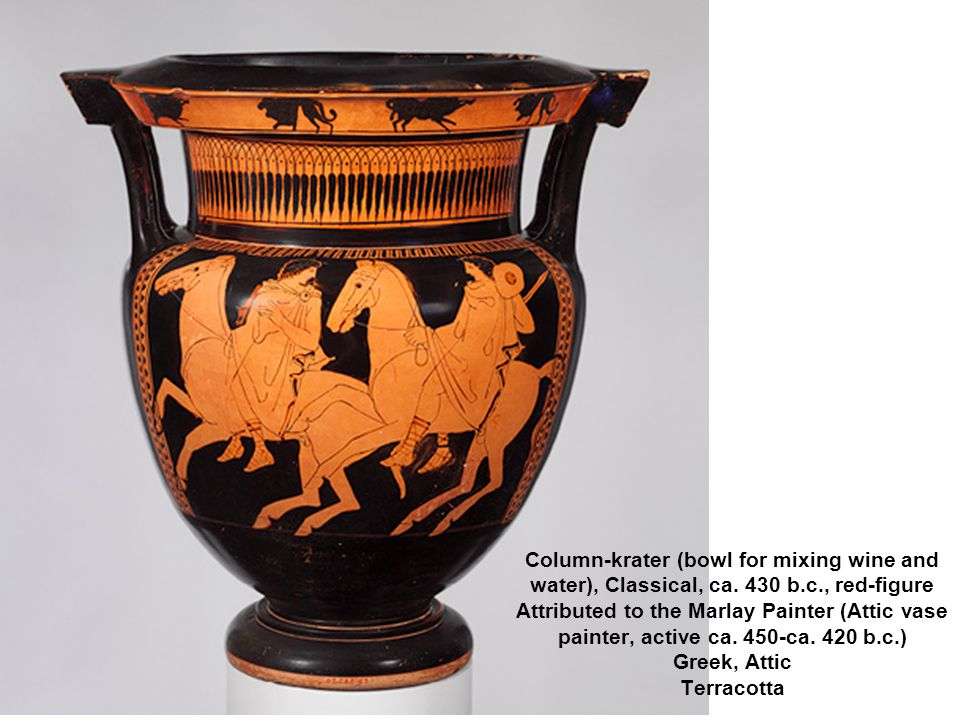 Column-krater (bowl for mixing wine and water), Classical, ca.