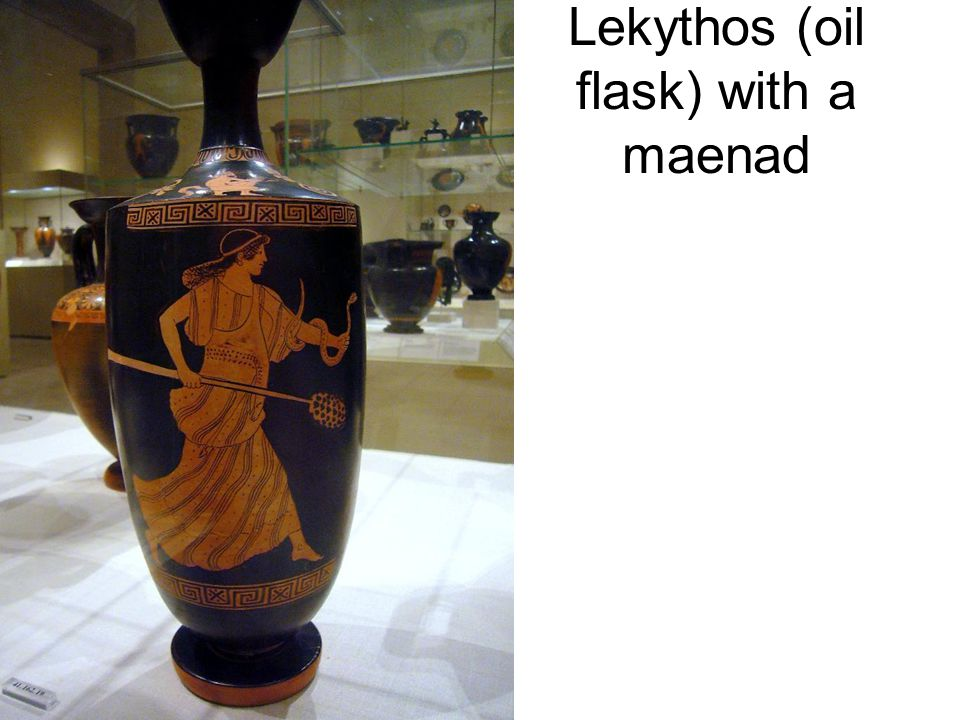 Lekythos (oil flask) with a maenad