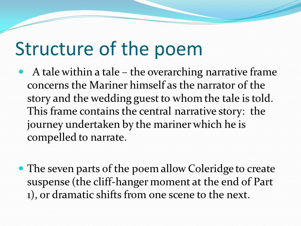 Structure of the poem