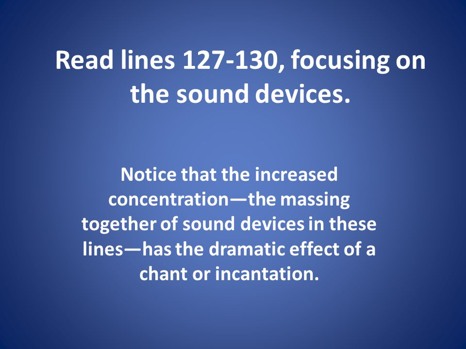 Read lines , focusing on the sound devices.