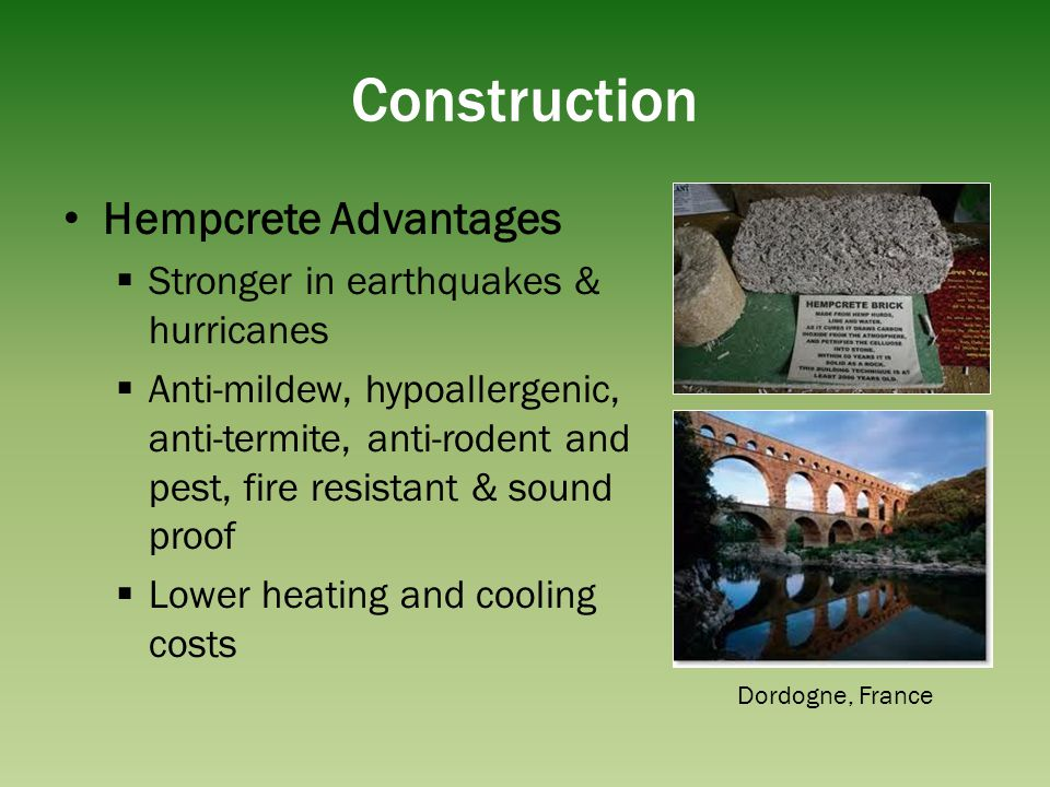 Construction Hempcrete Advantages Stronger in earthquakes & hurricanes