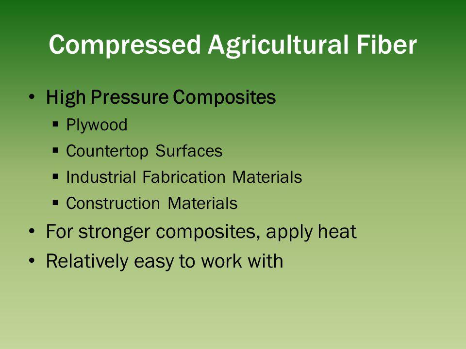 Compressed Agricultural Fiber