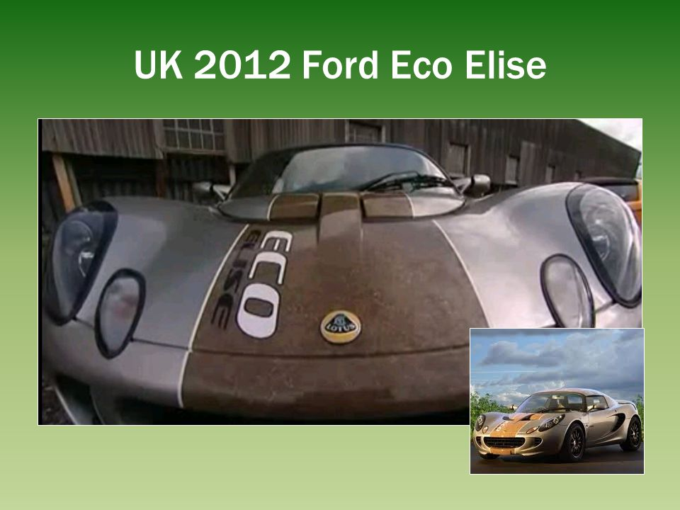 UK 2012 Ford Eco Elise