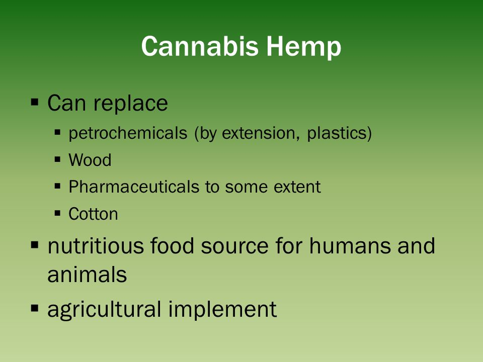 Cannabis Hemp Can replace