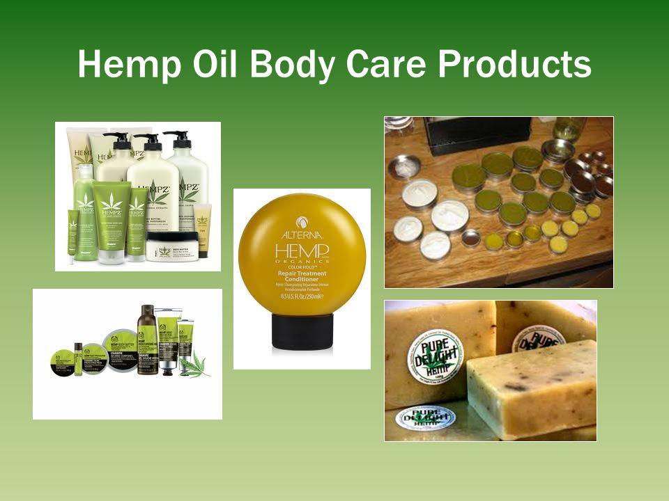Hemp Oil Body Care Products