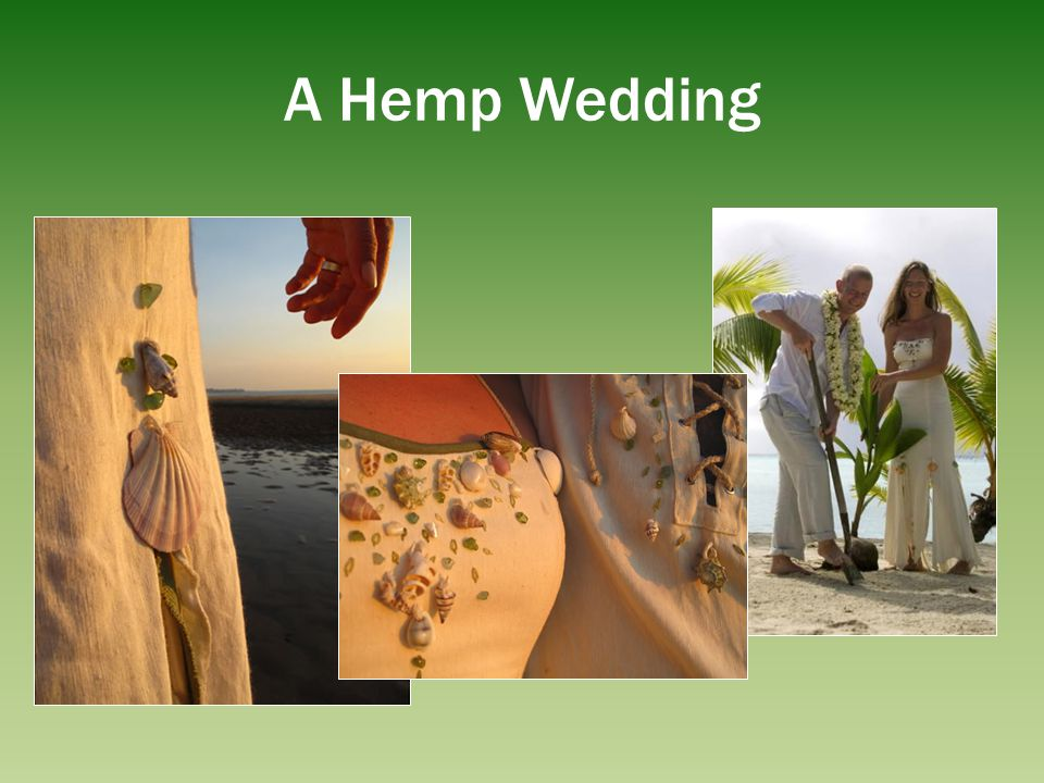 A Hemp Wedding This is beautiful hemp dress with shells and we could do this in St Lucia