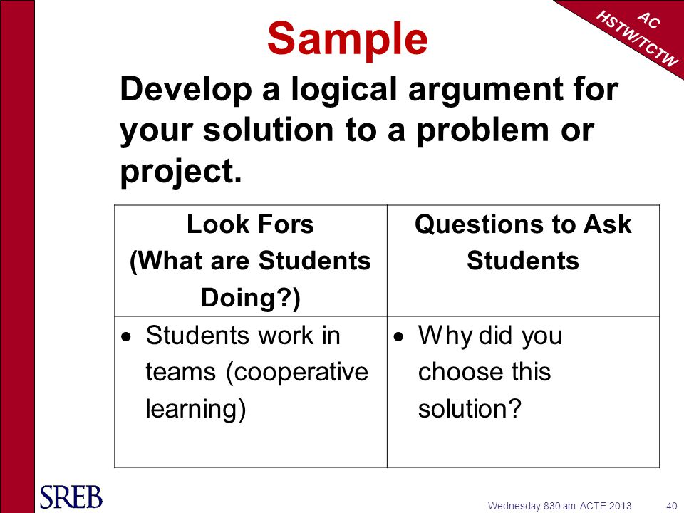 (What are Students Doing ) Questions to Ask Students