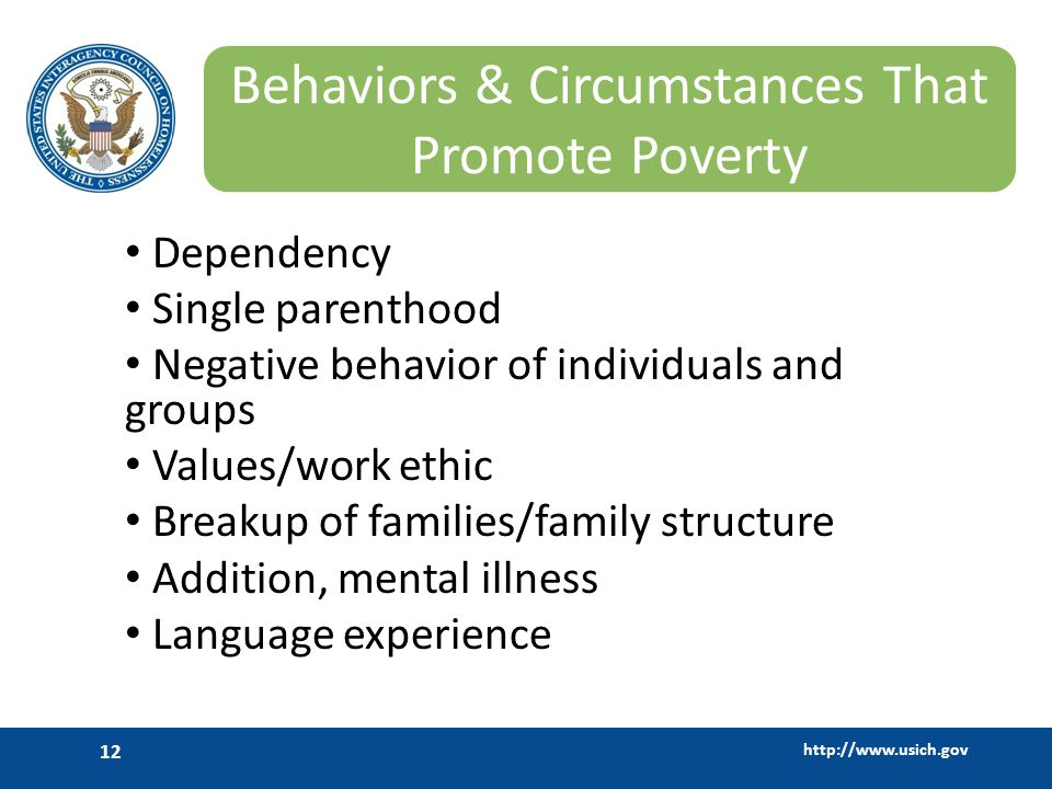 Behaviors & Circumstances That Promote Poverty