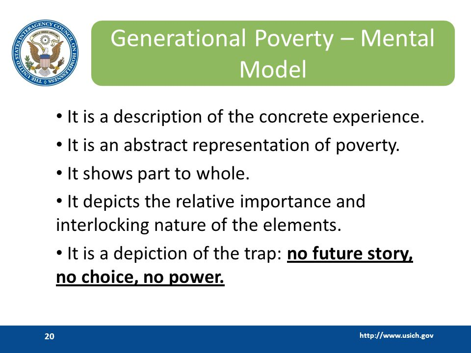 Generational Poverty – Mental Model