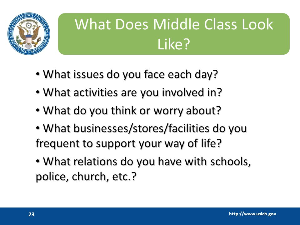 What Does Middle Class Look Like