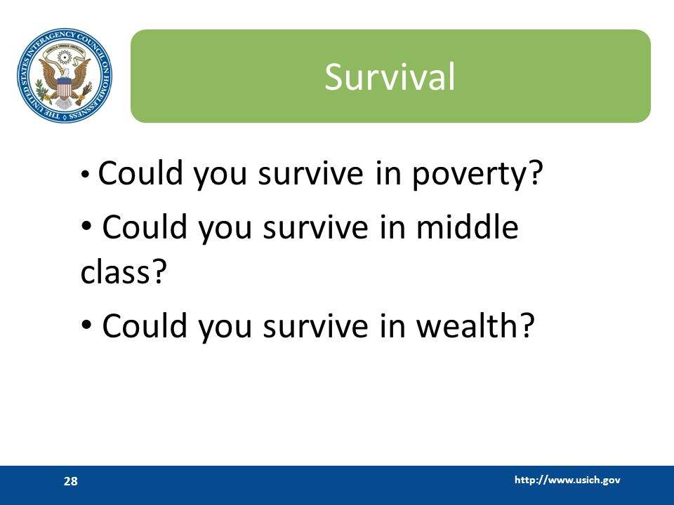 Survival Could you survive in middle class