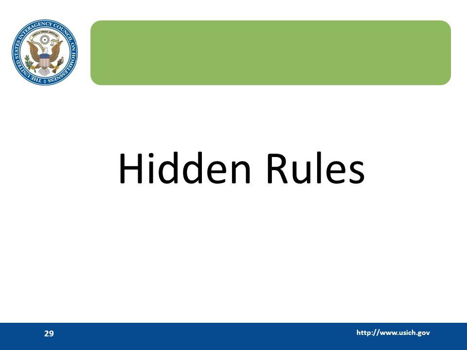 Hidden Rules