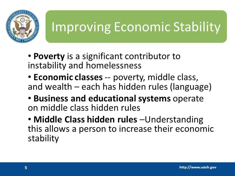 Improving Economic Stability