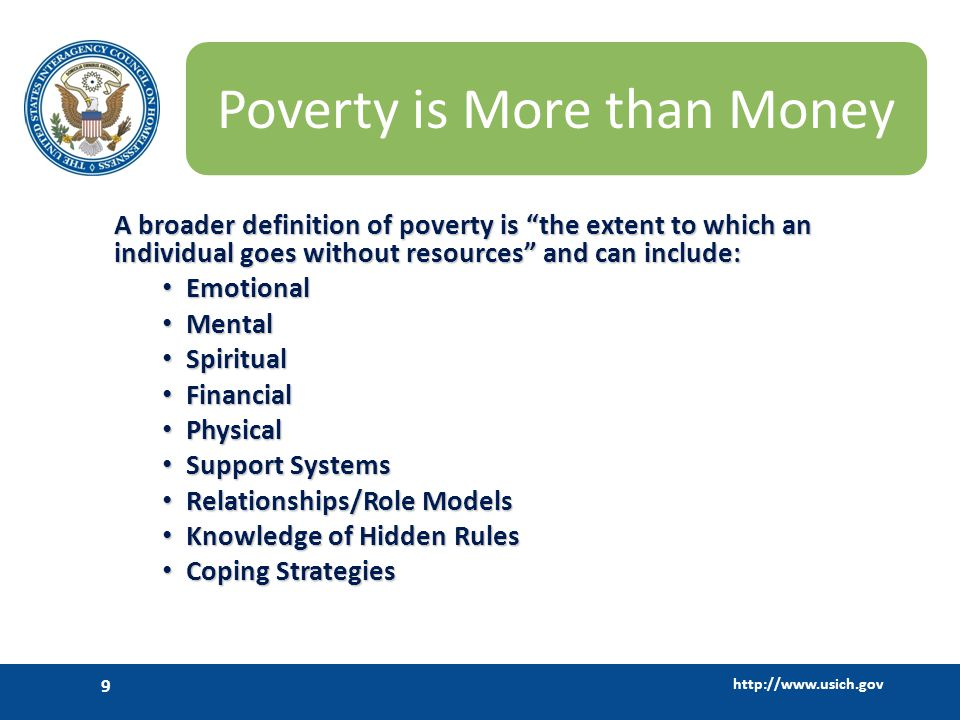 Poverty is More than Money