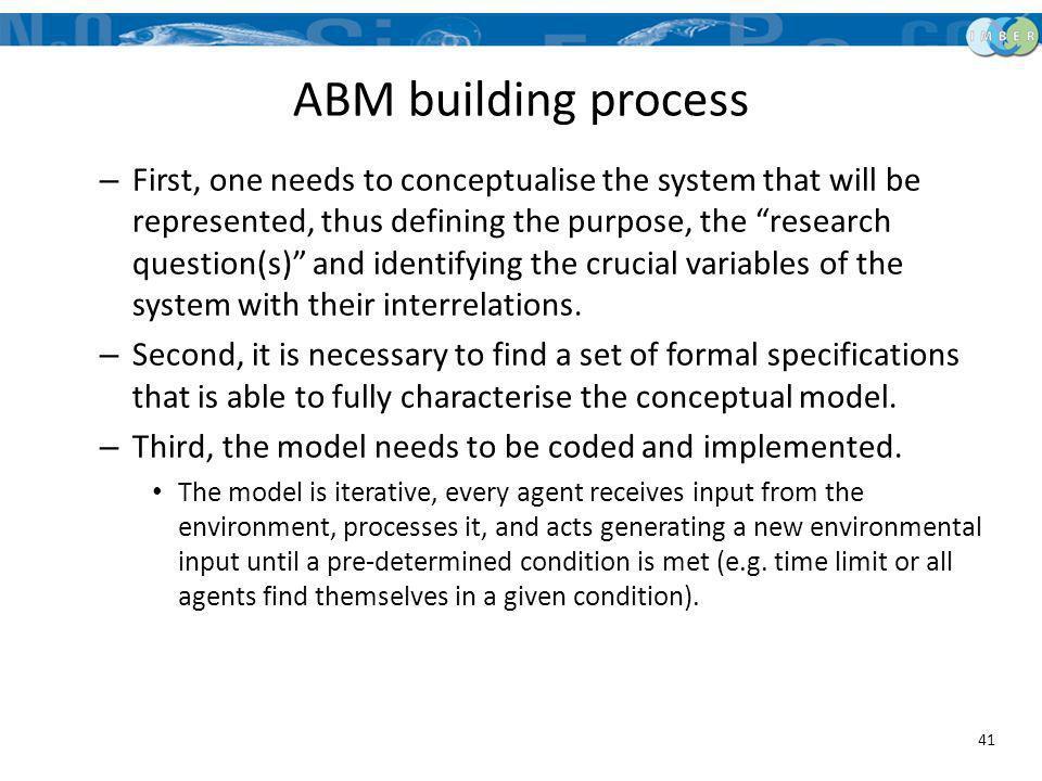 ABM building process