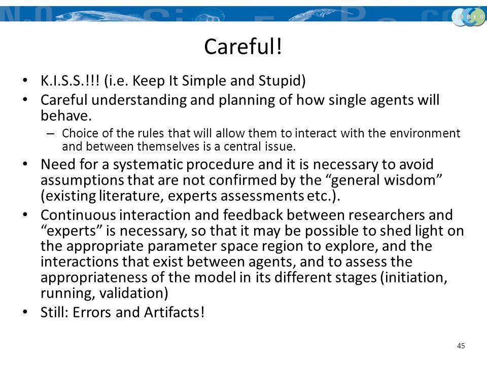 Careful! K.I.S.S.!!! (i.e. Keep It Simple and Stupid)