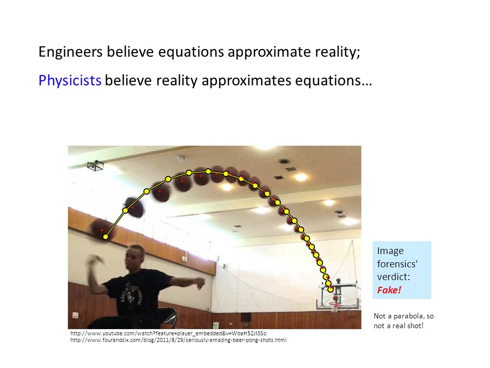 Engineers believe equations approximate reality;