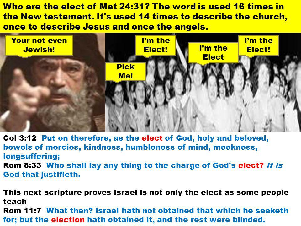 Who are the elect of Mat 24:31