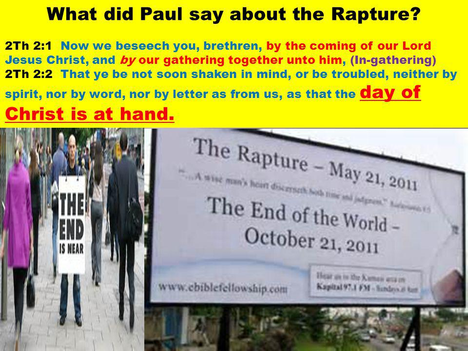 What did Paul say about the Rapture