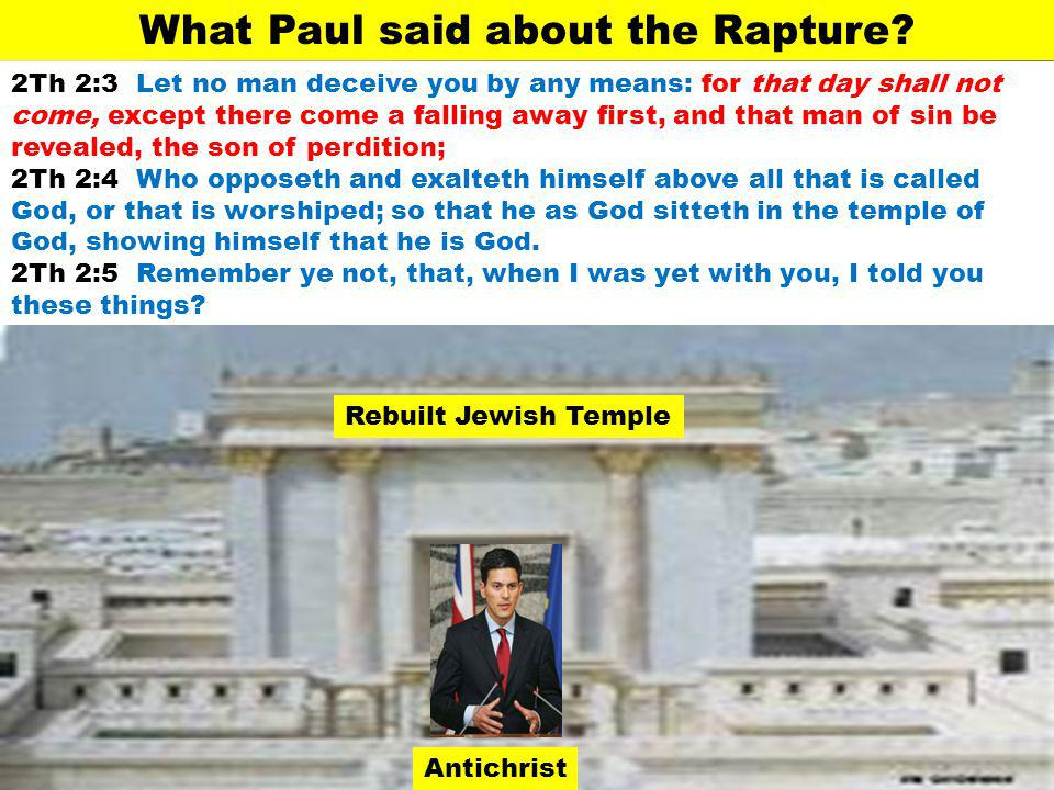 What Paul said about the Rapture