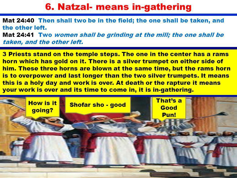 6. Natzal- means in-gathering