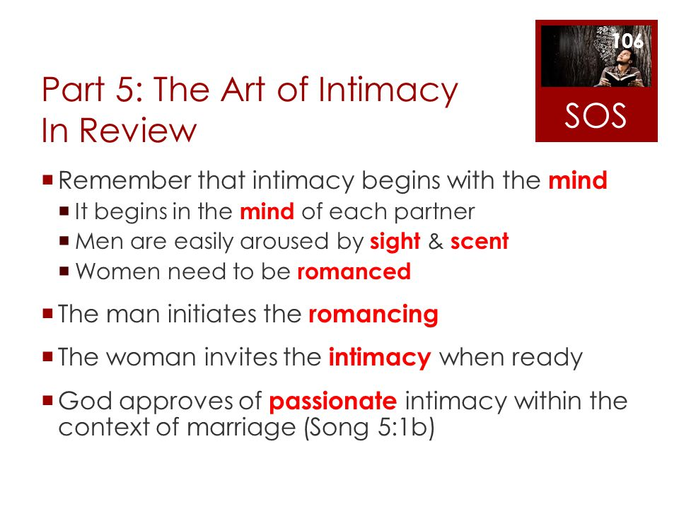 Part 5: The Art of Intimacy In Review