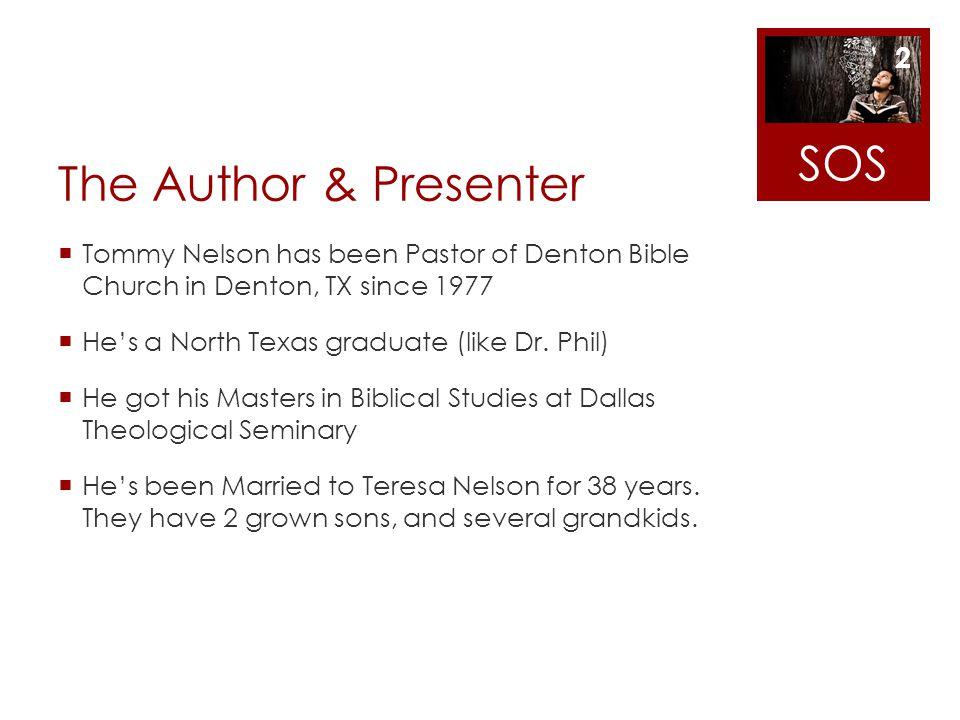 SOS The Author & Presenter