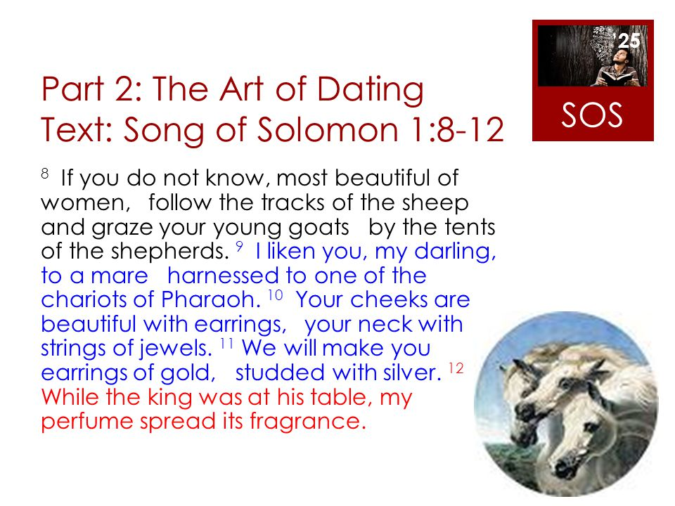Part 2: The Art of Dating Text: Song of Solomon 1:8-12