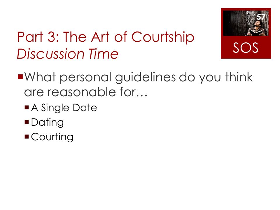 Part 3: The Art of Courtship Discussion Time